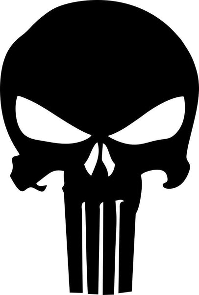 punisher skull 29 skull biker decal - North 49 Decals