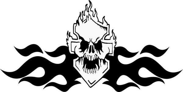 skull 30 skull biker decal - North 49 Decals