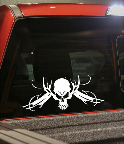 skull 31 skull biker decal - North 49 Decals