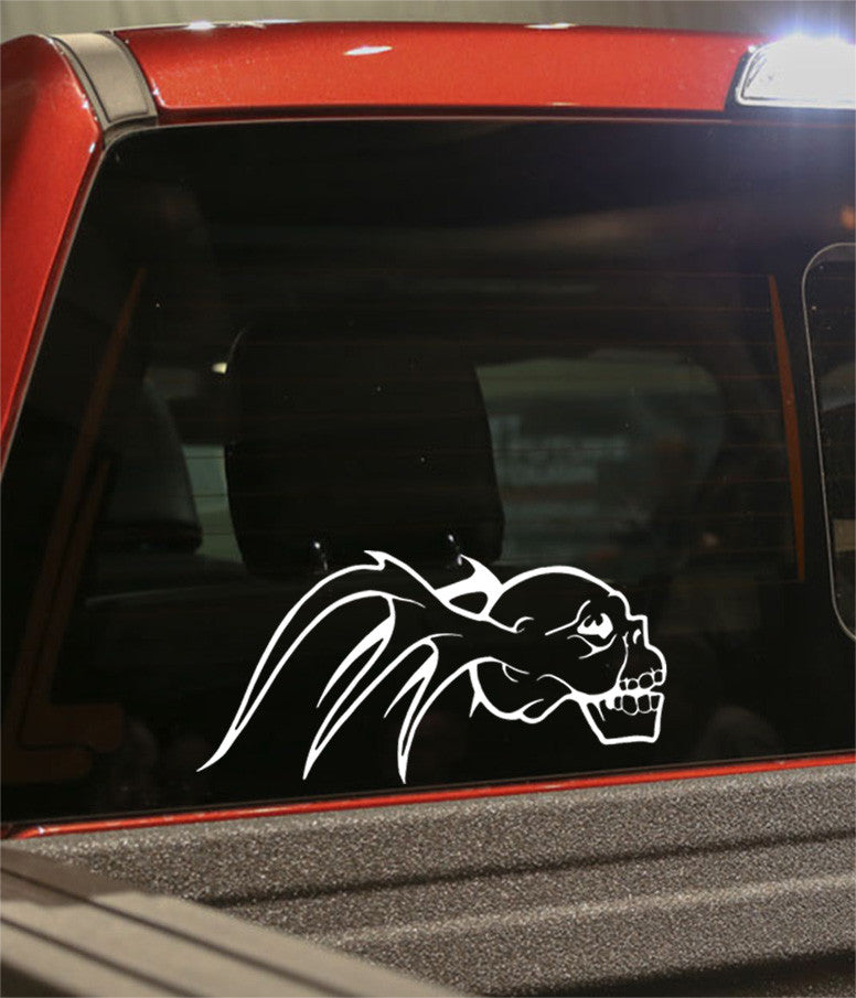 skull 33 skull biker decal - North 49 Decals