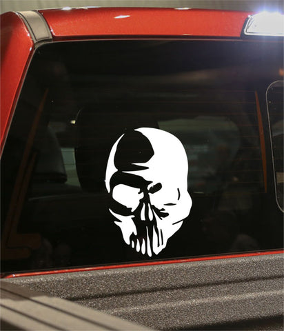 skull 36 skull biker decal - North 49 Decals