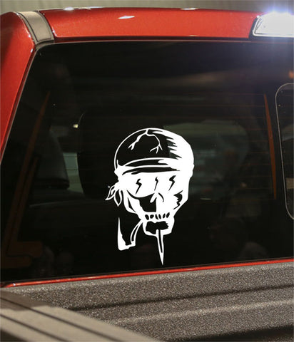 skull 38 skull biker decal - North 49 Decals
