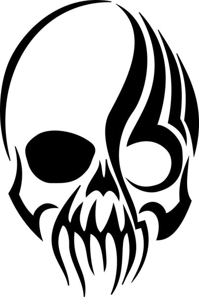 skull 40 skull biker decal - North 49 Decals