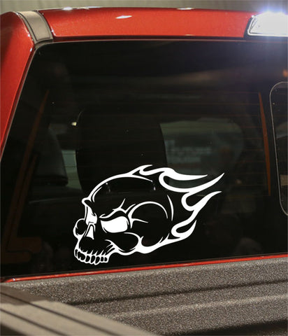 skull 42 skull biker decal - North 49 Decals