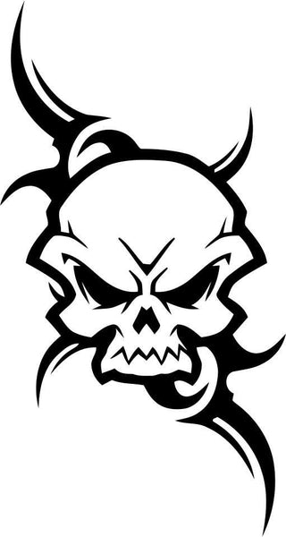 skull 4 skull biker decal - North 49 Decals