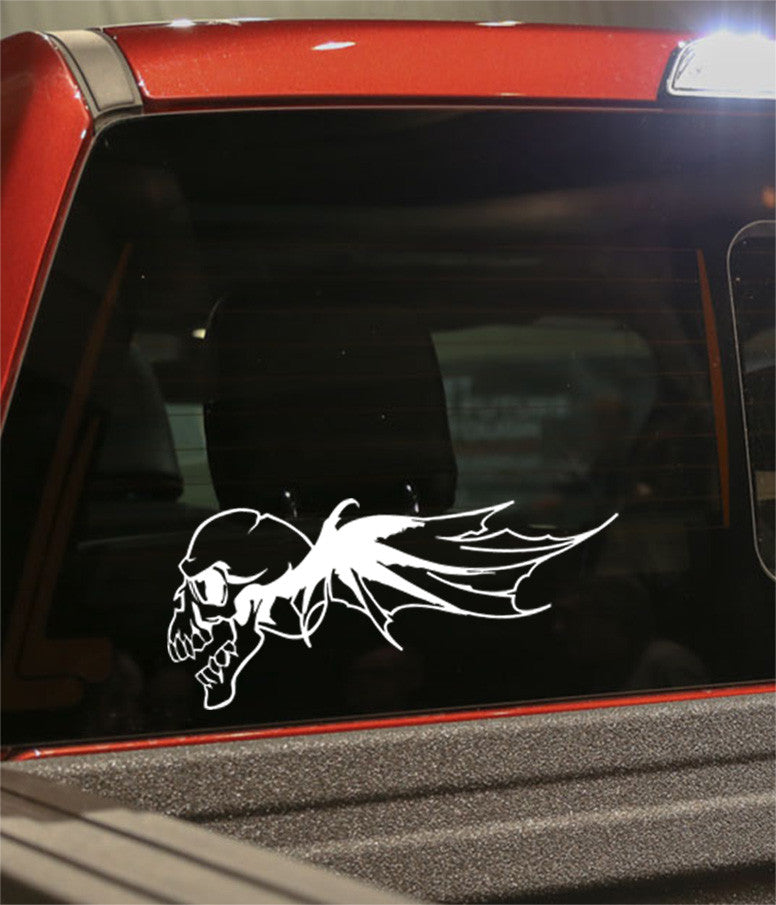 skull 8 skull biker decal - North 49 Decals