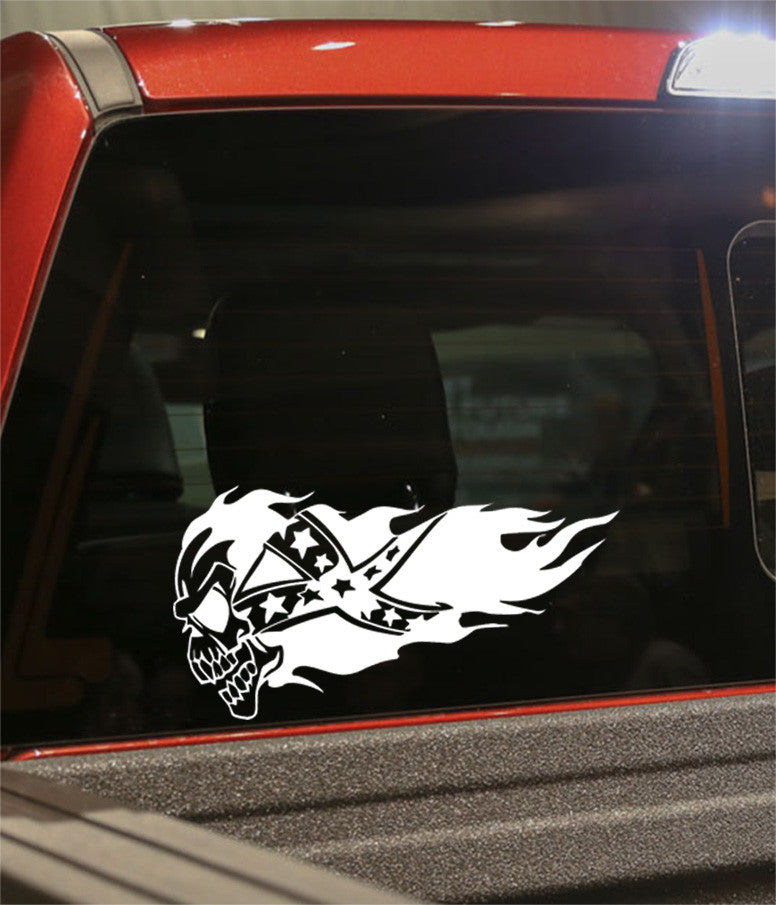 skull 9 skull biker decal - North 49 Decals