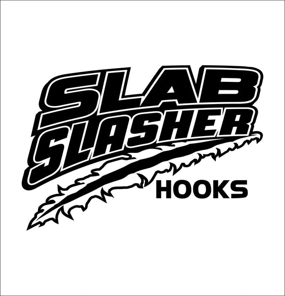 Slab Slasher Hooks decal, sticker, hunting fishing decal