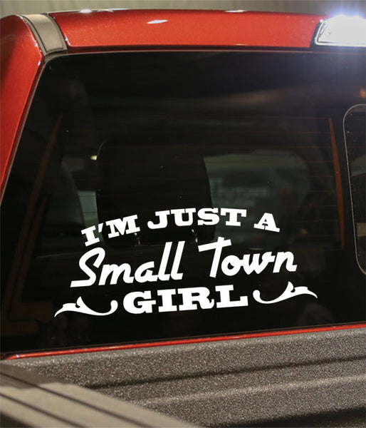 Small town girl country & western decal - North 49 Decals