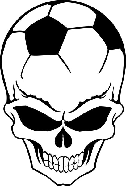 soccer sport skull decal - North 49 Decals