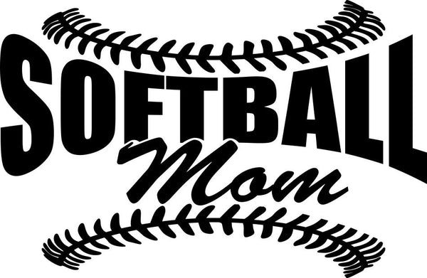 Softball mom 2 softball decal - North 49 Decals