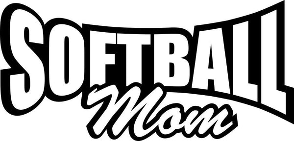 Softball mom softball decal - North 49 Decals