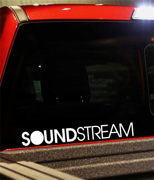 Soundstream decal, sticker, audio decal