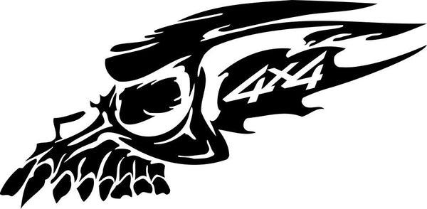 Skull 4x4 offroad decal - North 49 Decals