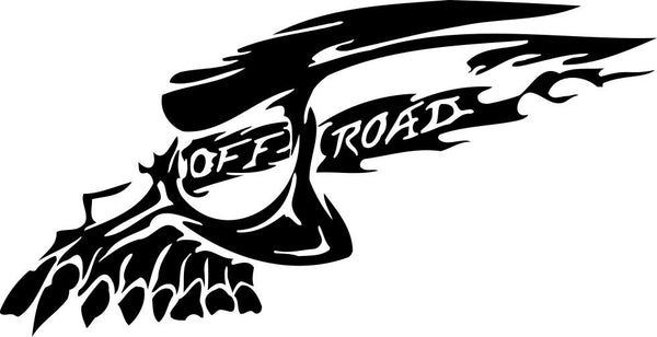 Skull offroad 4x4 offroad decal - North 49 Decals