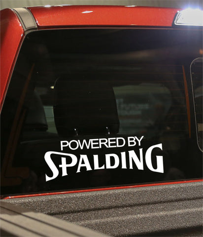 powered by spalding golf decal - North 49 Decals