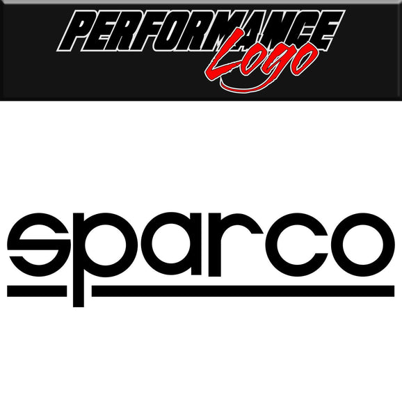 Sparco decal, performance decal, sticker