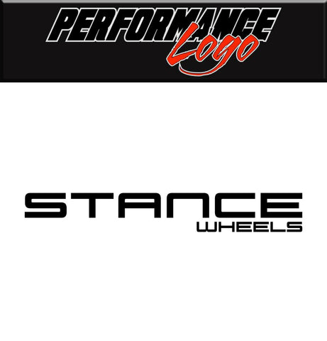 Stance Wheels decal, performance car decal sticker