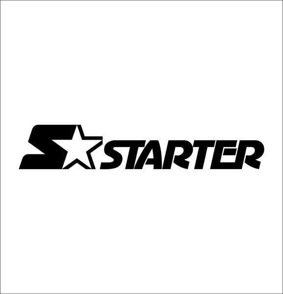 starter decal, car decal sticker