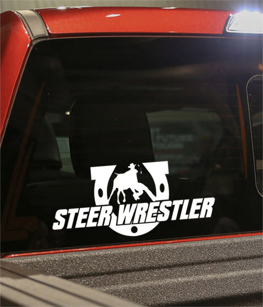 steer wrestler 2 country & western decal - North 49 Decals