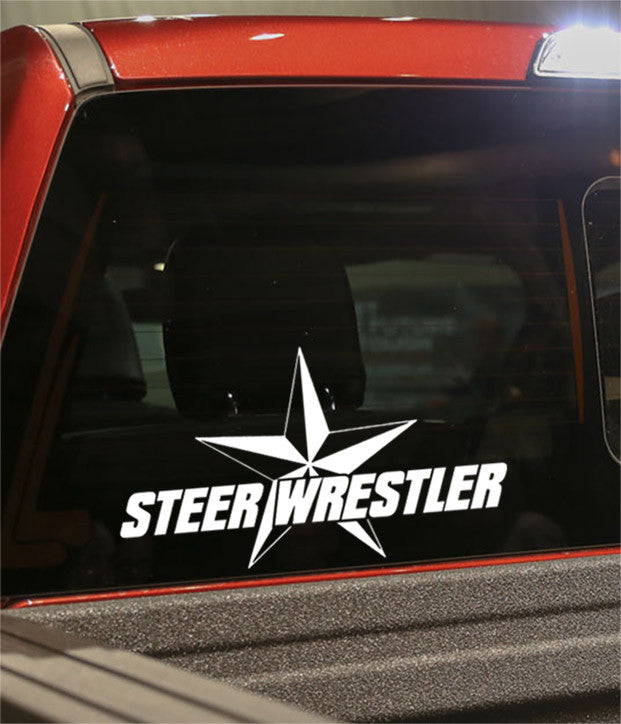 steer wrestler country & western decal - North 49 Decals