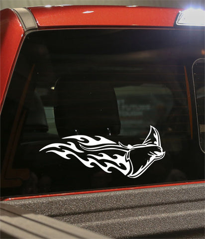 sting ray flaming animal decal - North 49 Decals