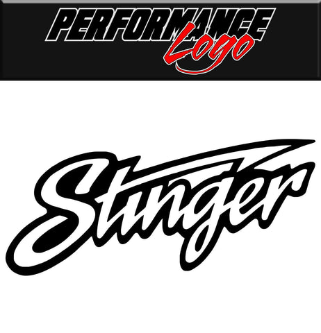 Stinger decal, performance decal, sticker