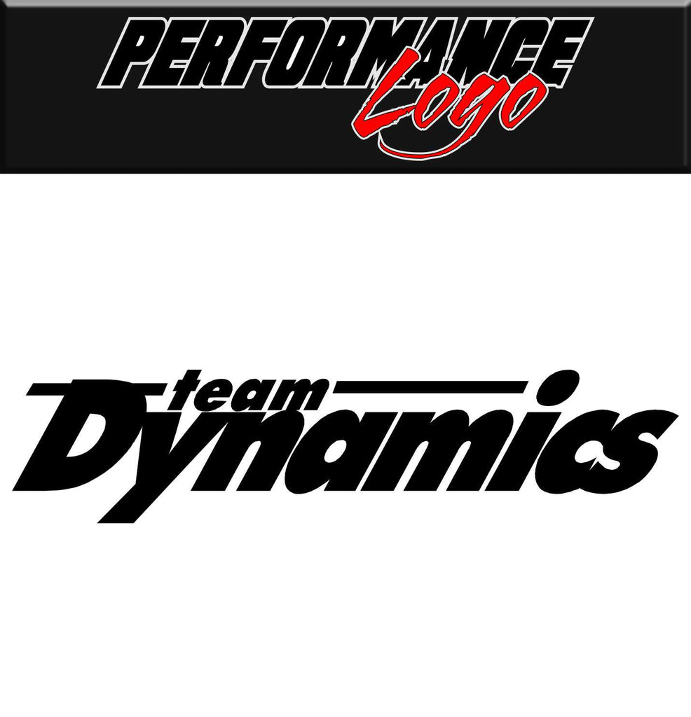 Team Dynamics decal, performance decal, sticker