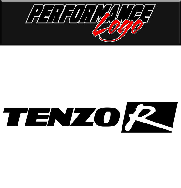 Tenzo R decal, performance decal, sticker