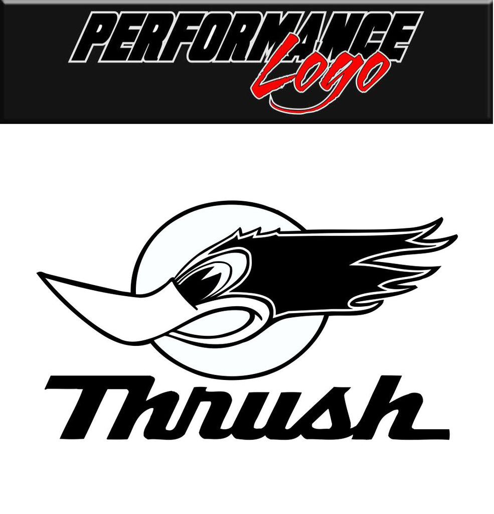 Thrush Exhaust decal, performance decal, sticker