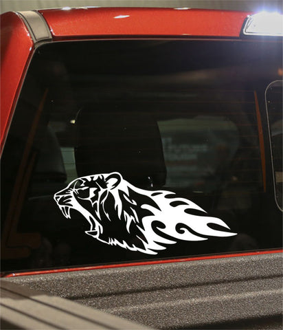 tiger 2 flaming animal decal - North 49 Decals