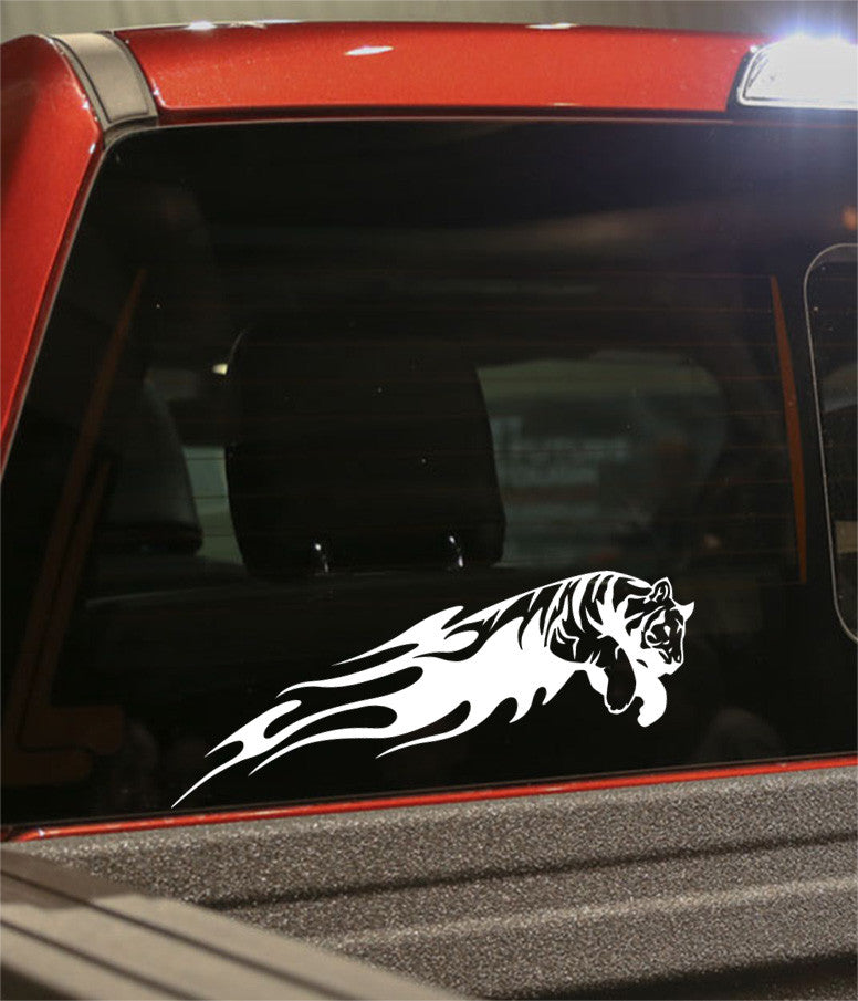 tiger 3 flaming animal decal - North 49 Decals