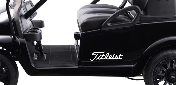 Titleist decal, golf decal, car decal sticker