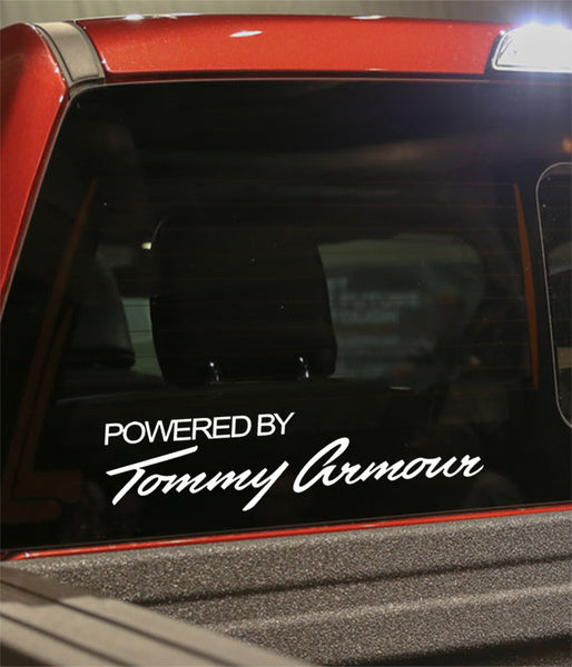 powered by tommy armour golf decal - North 49 Decals