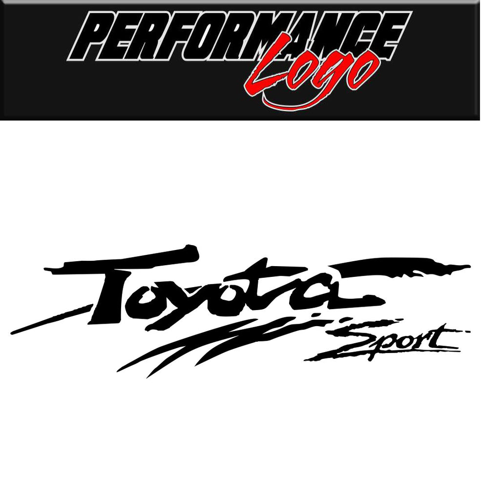 Toyota Sport decal, performance decal, sticker
