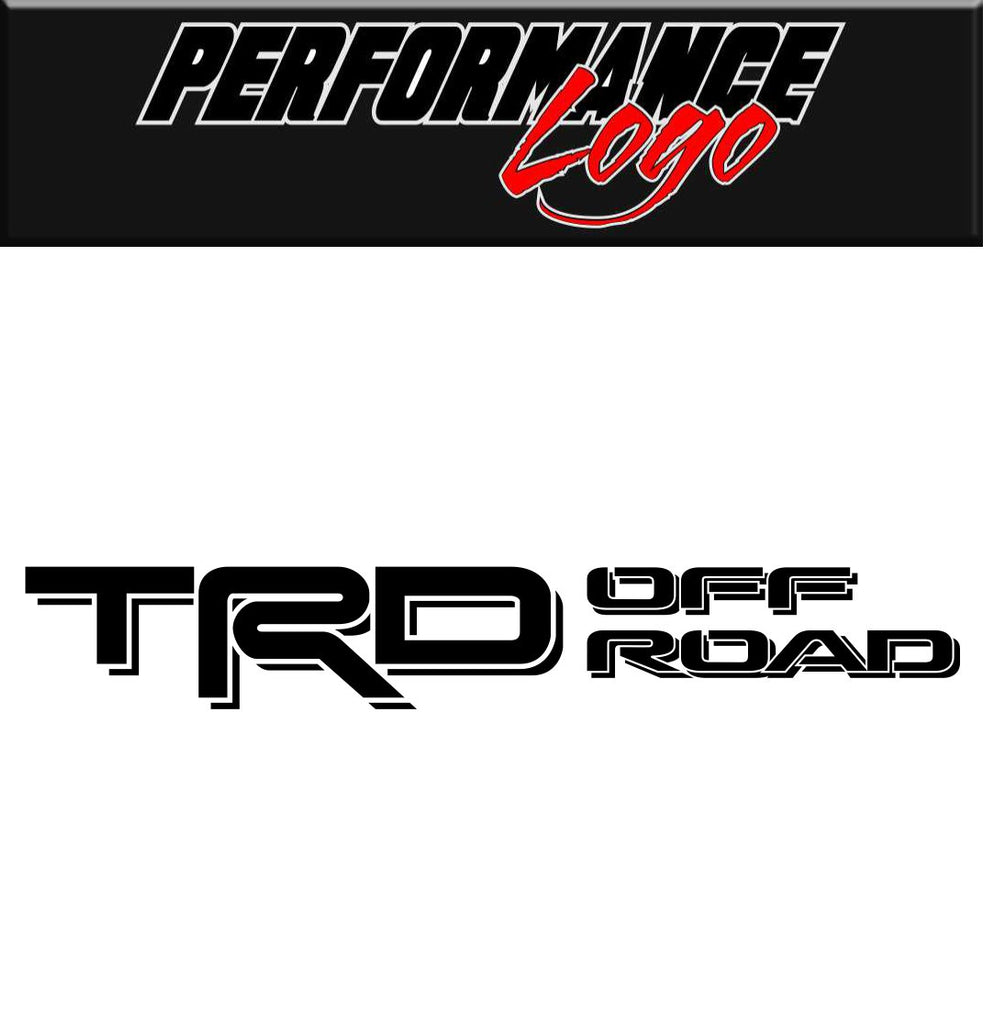 Toyota Racing Development Offroad decal, performance decal, TRD sticker