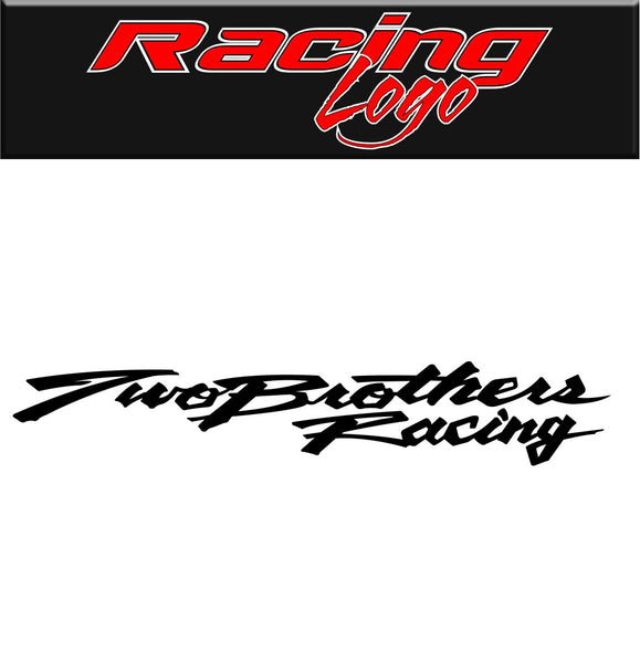 Two Brothers Racing decal, racing decal sticker