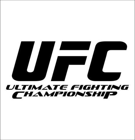 UFC decal, mma boxing decal, car decal sticker