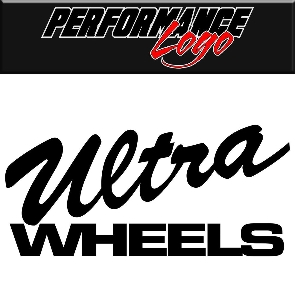 Ultra Wheels decal, performance decal, sticker