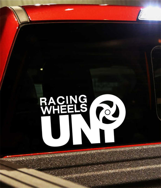 uni racing wheels performance logo decal - North 49 Decals