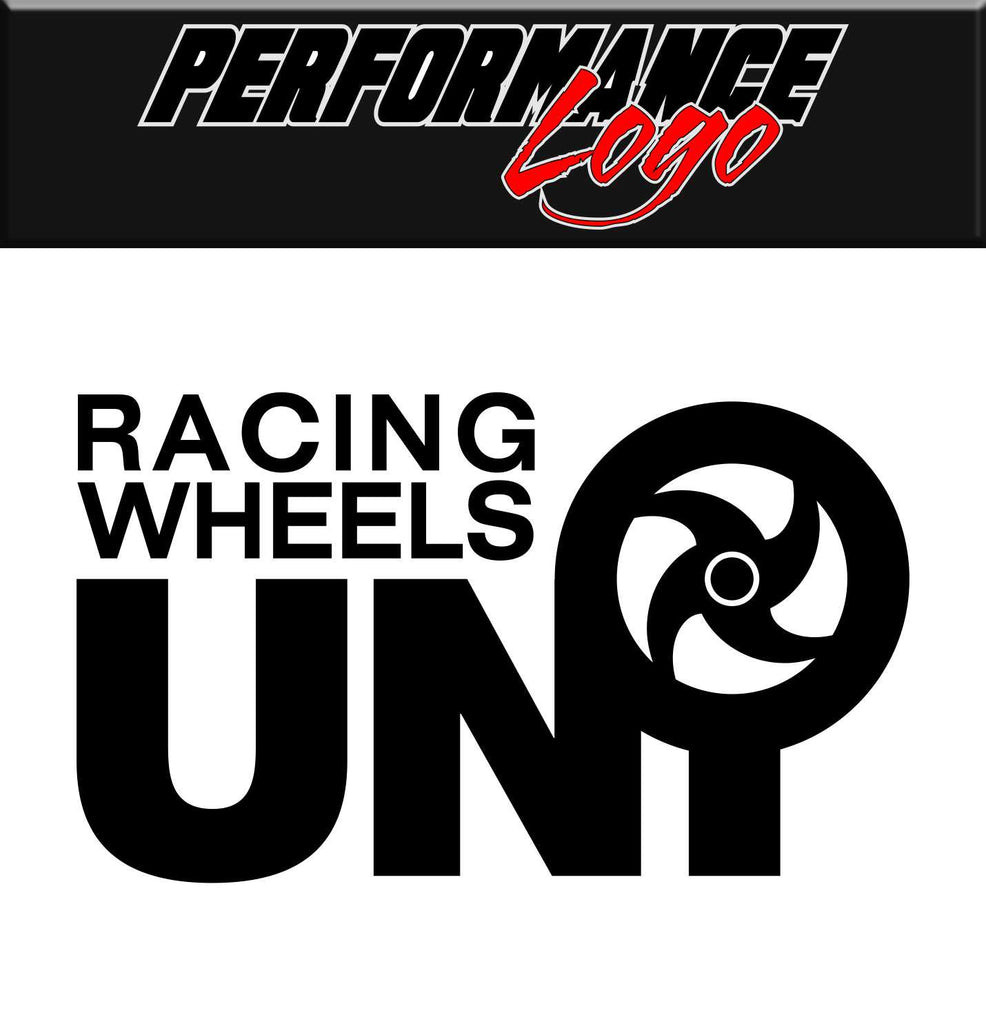 Uni Racing Wheels decal, performance decal, sticker