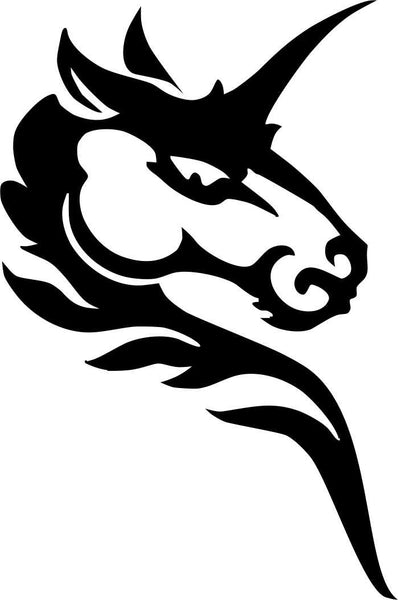 unicorn flaming animal decal - North 49 Decals
