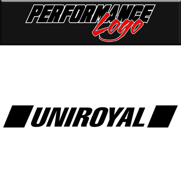 Uniroyal decal, performance decal, sticker