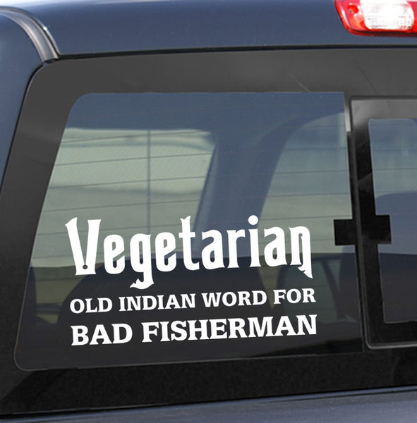 Vegetarian fishing decal - North 49 Decals