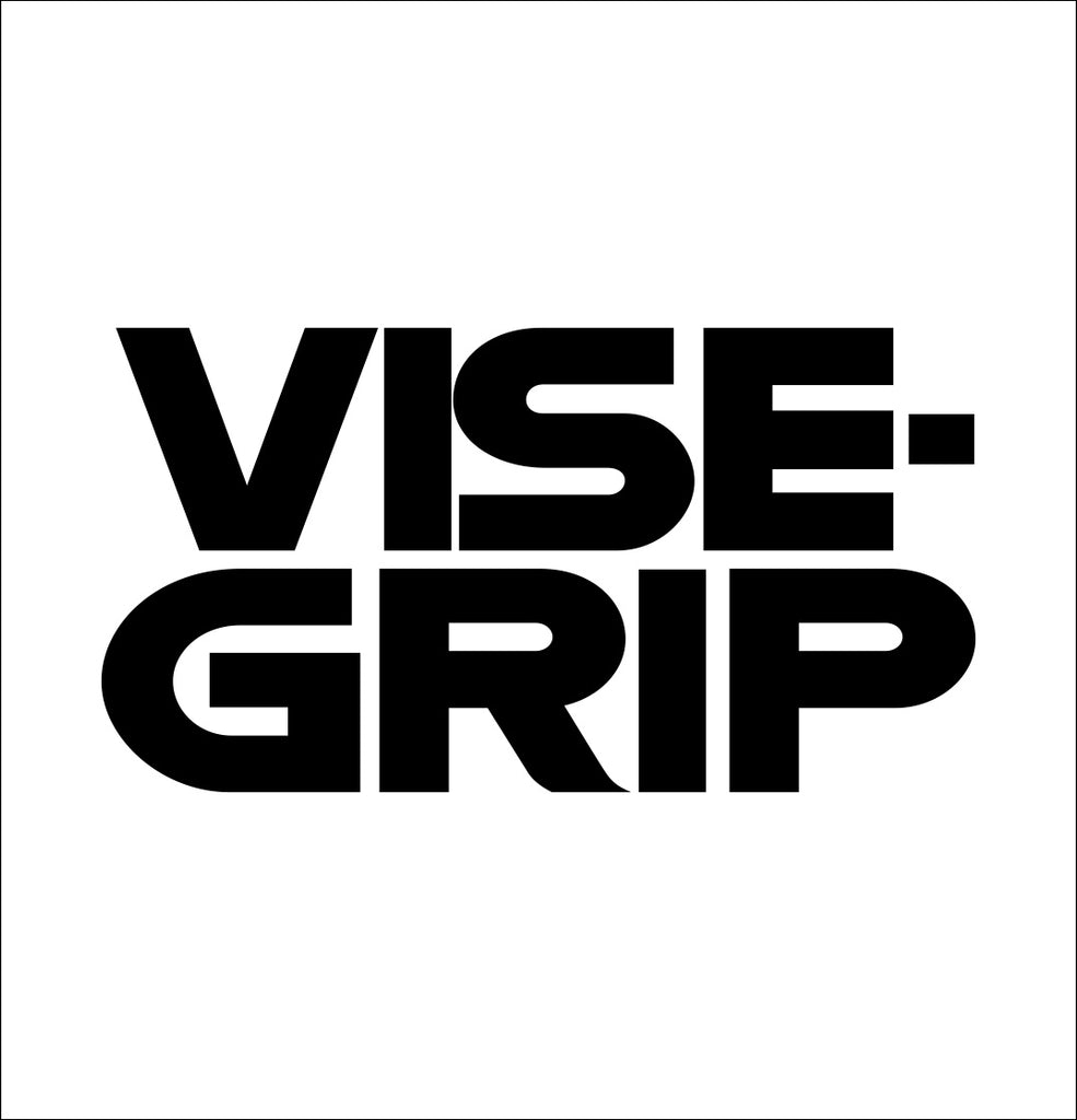 vise grip decal, car decal sticker