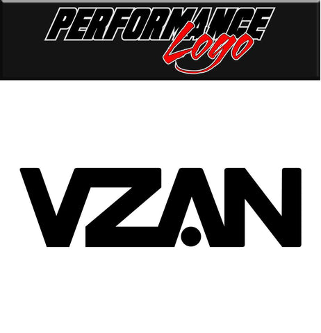 VZAN decal, performance decal, sticker