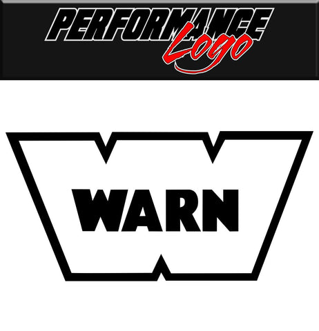 Warn decal, performance decal, sticker