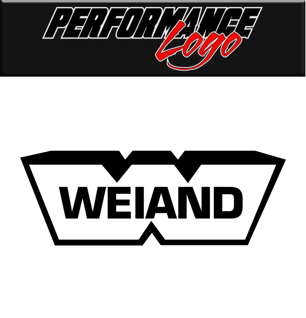 Weiand decal, performance decal, sticker