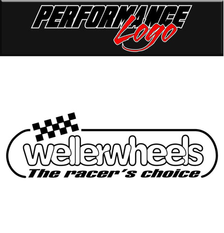 Weller Wheels decal, performance decal, sticker