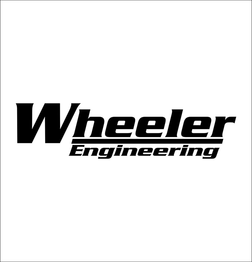 Wheeler Engineering decal, sticker, hunting fishing decal